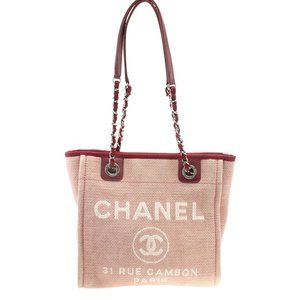 Chanel Small Deauville Pink Tote Bag 184978